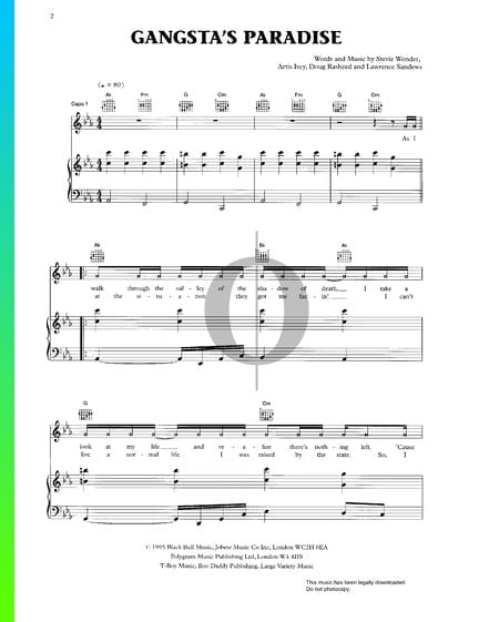 Gangsta's Paradise Sheet Music