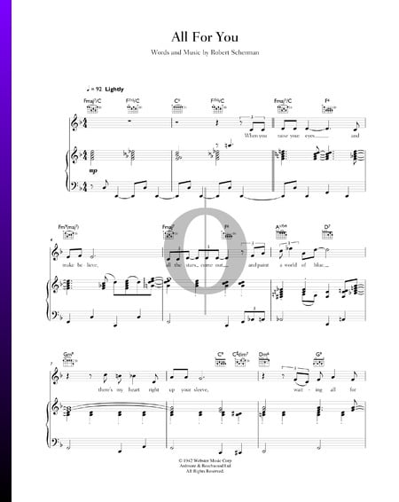 All For You Sheet Music