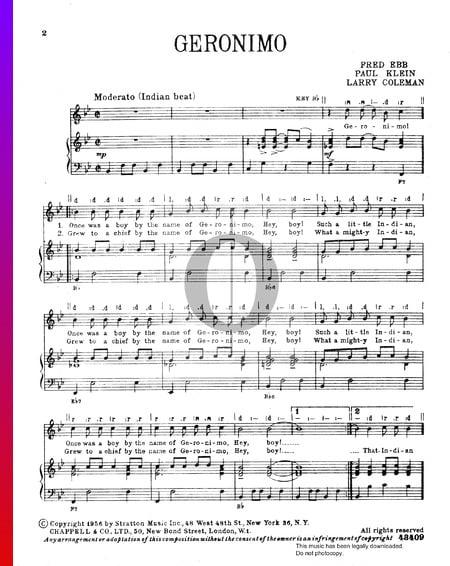 Geronimo Musik-Noten