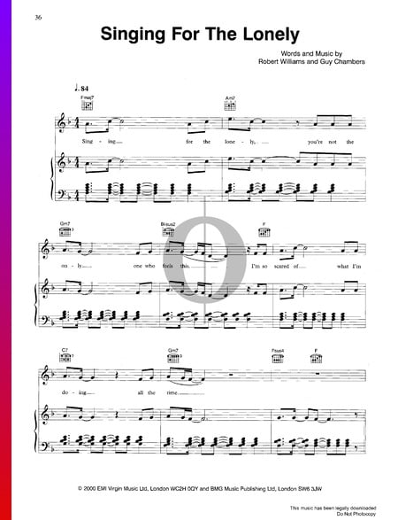 Singing For The Lonely Sheet Music