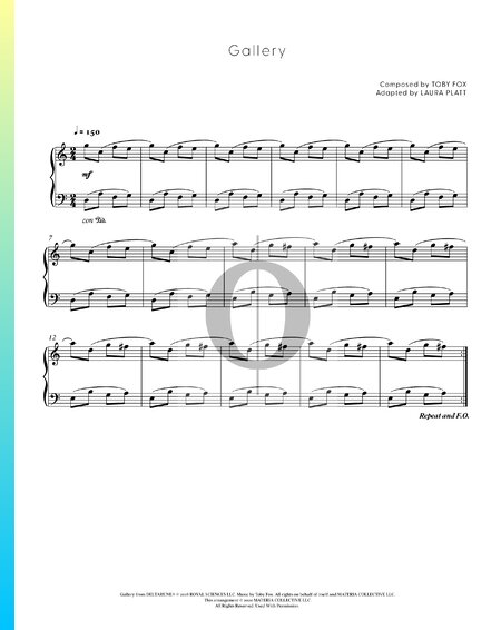 Gallery Sheet Music