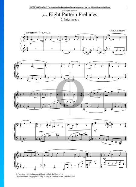 Eight Pattern Preludes: 5. Intermezzo Partitura