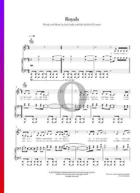 Royals Musik-Noten