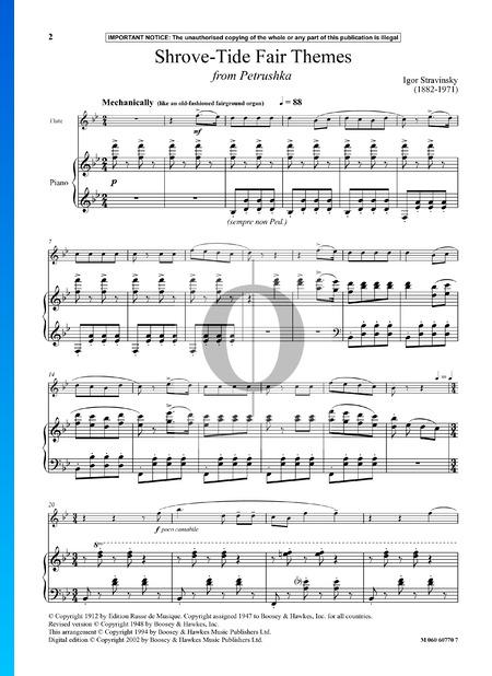 Shrove-Tide Fair Themes Musik-Noten