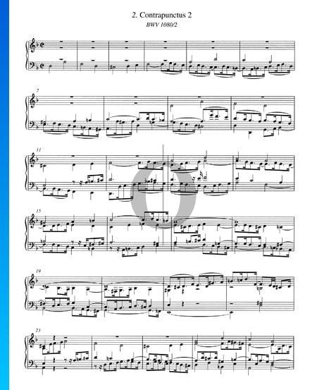 Contrapunctus 2, BWV 1080/2 Musik-Noten