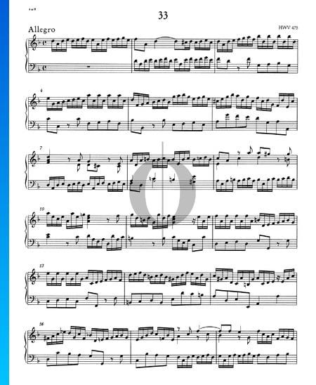 Allegro d-Moll, HWV 475 Musik-Noten