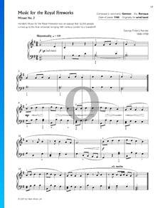 Feuerwerksmusik, HWV 351: Minuet Nr. 2