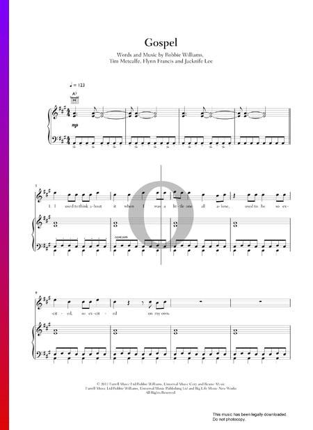 Gospel Sheet Music
