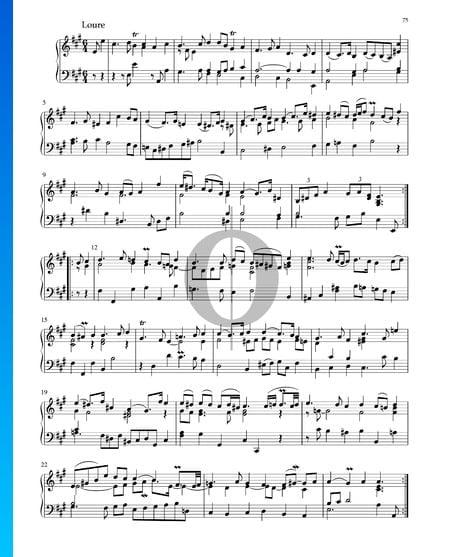 Partita en La Majeur, BWV 1006: 2. Loure Partition