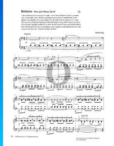 Lyrische Stücke Op. 54: Nr. 4 Notturno