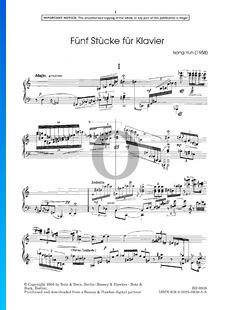 5 Piano Pieces: No. 1. Adagio, grazioso