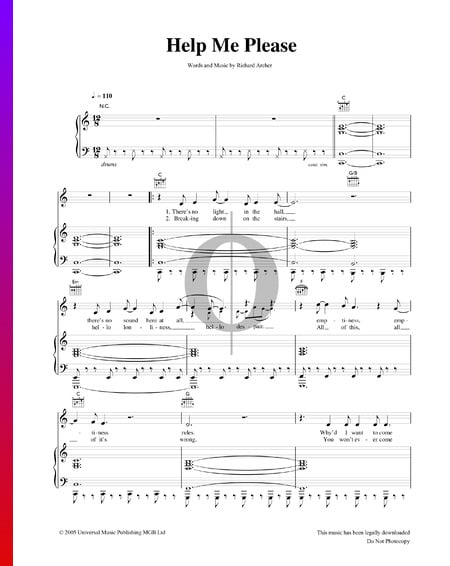 Help Me Please Sheet Music