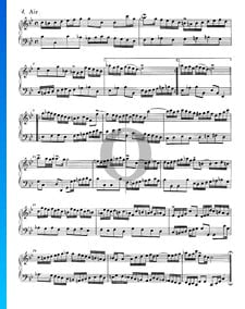 Suite francesa n.º 2 en do menor, BWV 813: 4. Aire