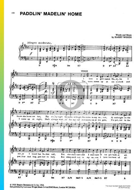 Paddlin' Madelin' Home Musik-Noten