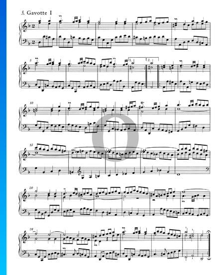 English Suite No. 6 D Minor, BWV 811: 5./6. Gavotte I and II Sheet Music