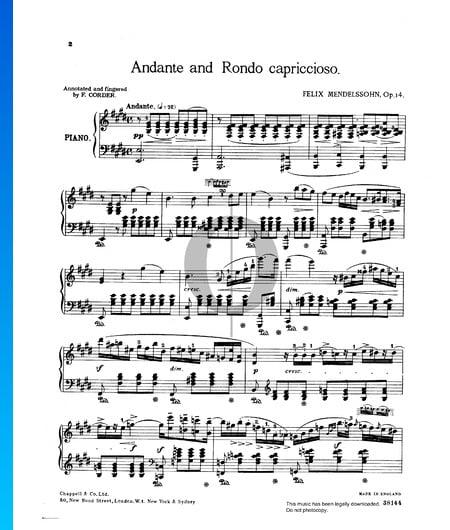 Andante und Rondo capriccioso, Op. 14 Musik-Noten