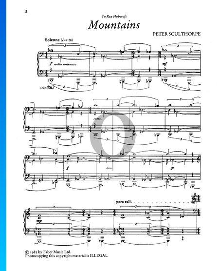 Mountains Sheet Music