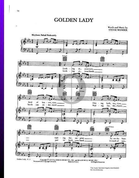 Golden Lady Sheet Music