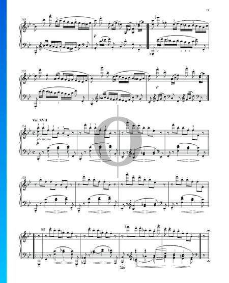 Variaciones y Fuga sobre un tema de Händel, Op. 24: Variación XVII Partitura