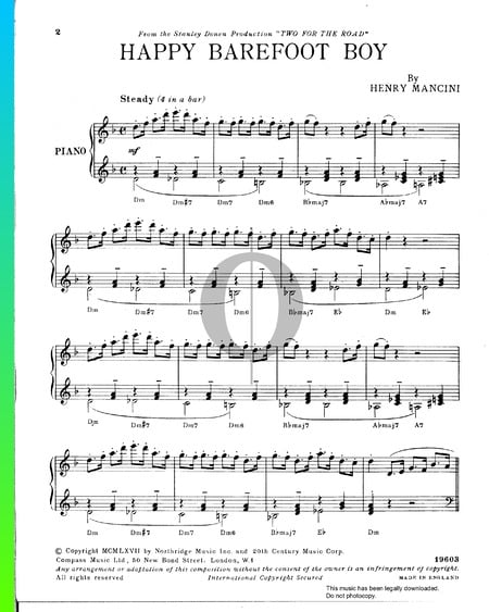 Happy Barefoot Boy Sheet Music