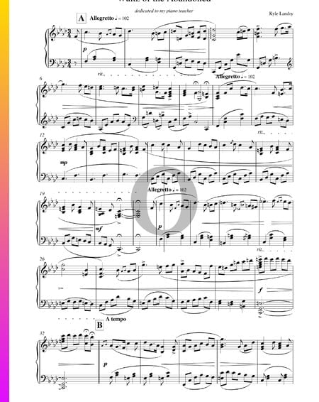 Waltz of the Abandoned Partitura