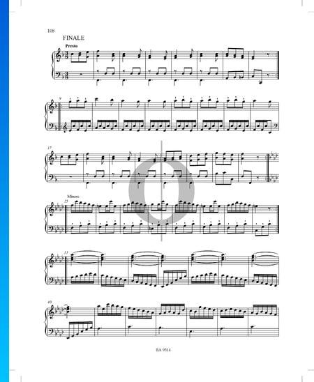 Sonata en fa mayor, P. XII: 44: 3. Finale Partitura