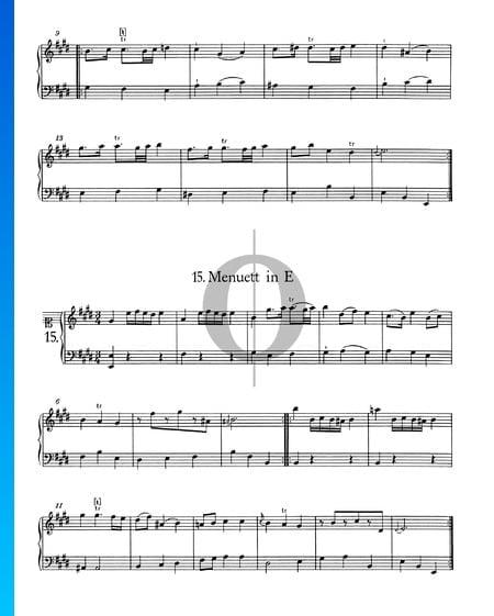 Menuett in E-Dur, Nr. 15 Musik-Noten