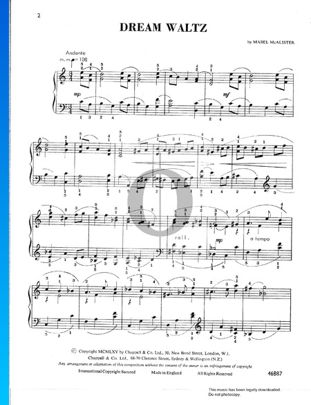 Dream Waltz Partitura