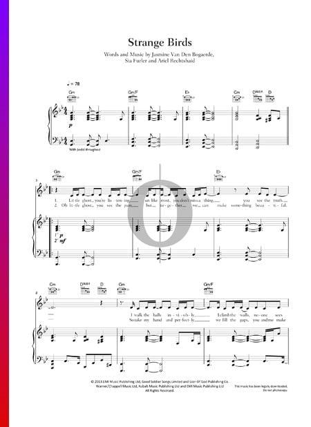 Strange Birds Sheet Music