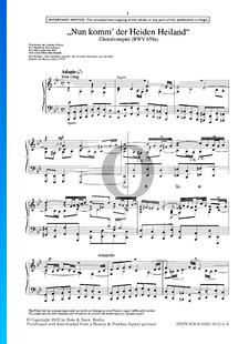 Nun komm' der Heiden Heiland, BWV 659a