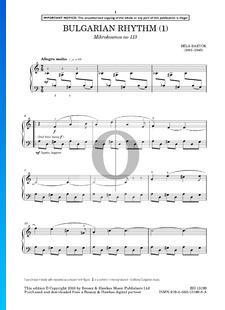 Mikrokosmos Sz. 107 Vol. 4: No. 113 Bulgarian Rhythm