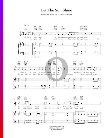 Let The Sun Shine Musik-Noten