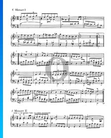 Französische Suite Nr. 1 d-Moll, BWV 812: 4./5. Menuet I und II