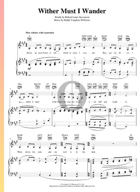 Whither Must I Wander Sheet Music