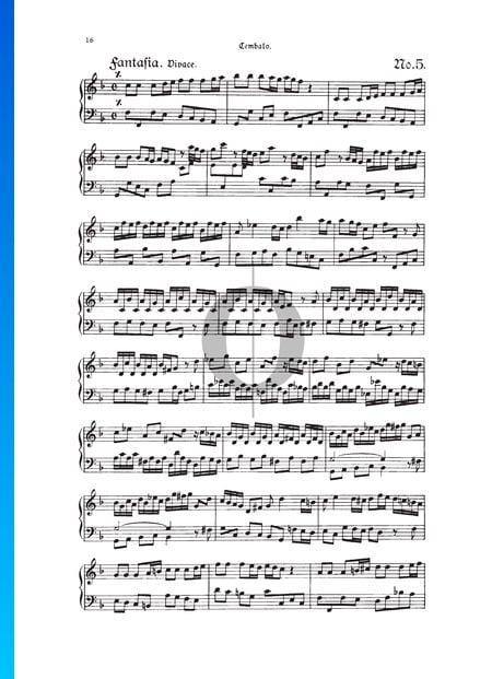 Fantasie, TWV 33:5 Musik-Noten
