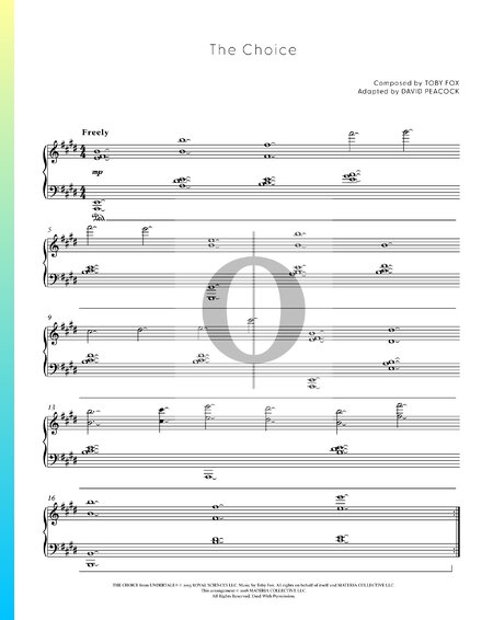 The Choice Partitura