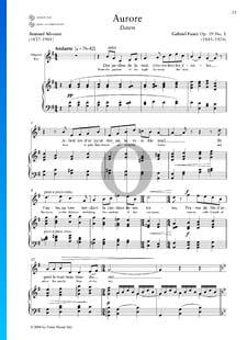 Aurore, Op. 39: No. 1