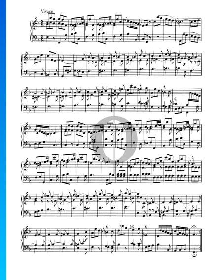 Sonata No. 1, Wq 48: 3. Vivace Sheet Music