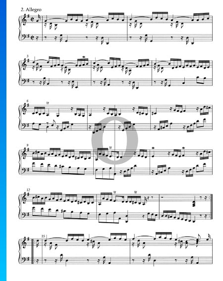 Suite G-Dur, HWV 441: 2. Allegro Musik-Noten