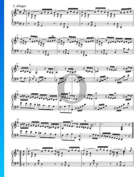 Suite G Major, HWV 441: 2. Allegro Sheet Music
