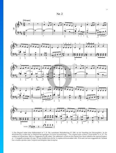 Dos canciones populares húngaras: n.º 2 Vivace Partitura