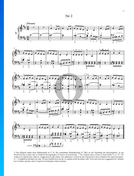Two Hungarian Folk Songs: No. 2 Vivace Sheet Music