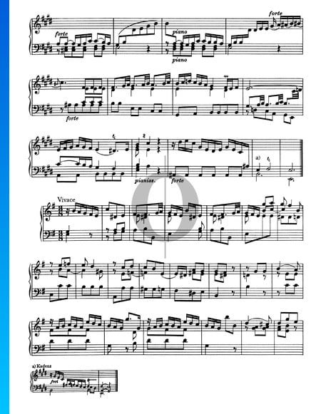 Sonata No. 3, Wq 49: 3. Vivace Sheet Music
