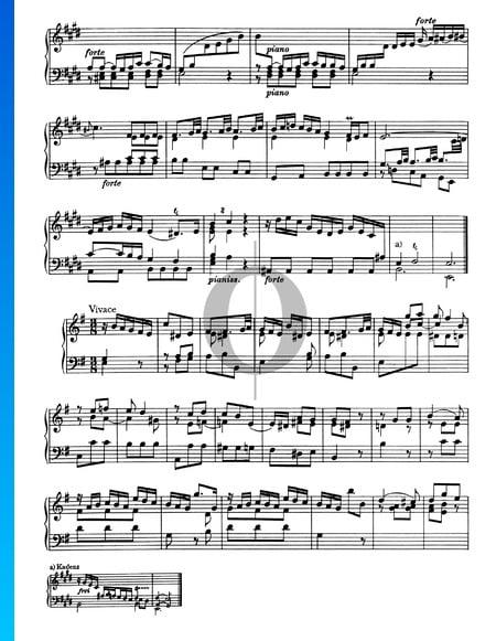 Sonate Nr. 3, Wq 49: 3. Vivace Musik-Noten
