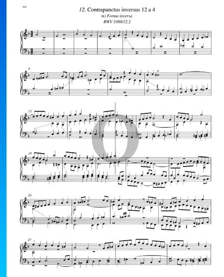 Contrapunctus 12, BWV 1080/12, 2 Sheet Music
