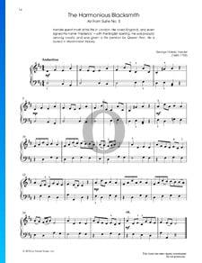 Suite No. 5 in E-Dur, HWV 430: Air (Der harmonische Grobschmied)