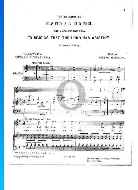 Cavalleria Rusticana, Easter Hymn Musik-Noten