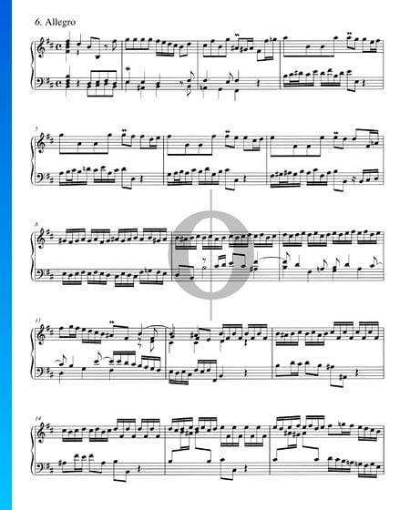 Concerto in B Minor, BWV 979: 6. Allegro Sheet Music