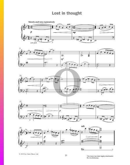 Lost In Thought Sheet Music