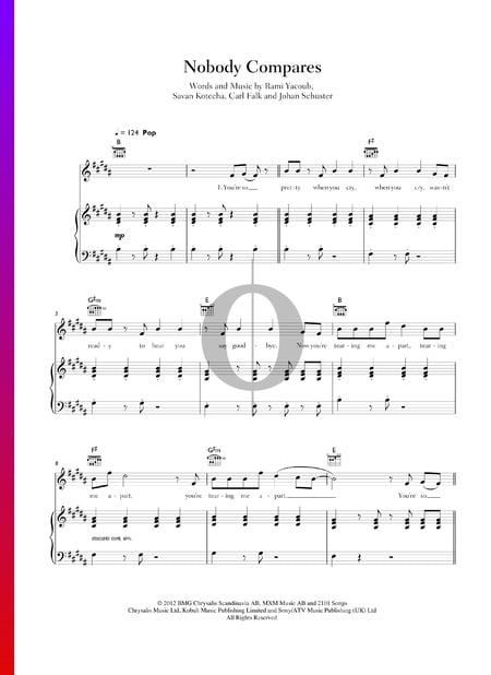 Nobody Compares Sheet Music